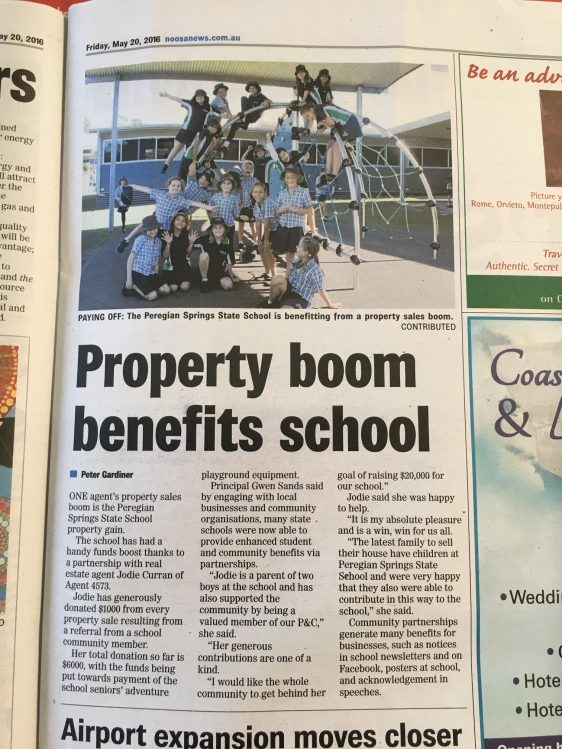 Jodie in the Noosa News…